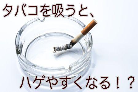 タバコを吸う人はハゲやすい2つの理由